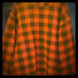 Men's Nautica vintage plaid fleece sweater
